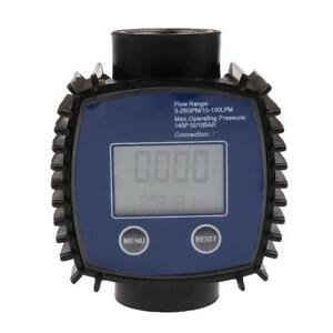 Turbine Fuel Diesel Gasoline Kerosene Oil Oval Gear Digital Flow Meter 1