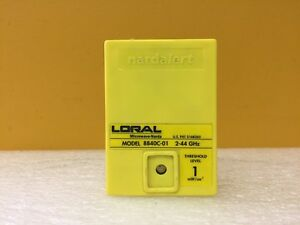 Loral 8840c 01 2 To 44 Ghz 2 Mw Cm2 Nardalert Radiation Monitor Tested