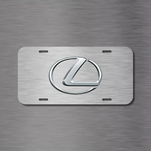 Lexus Vehicle Front License Plate Auto Car Tag Rx Is Gs Lx Ls Simulated Brushed