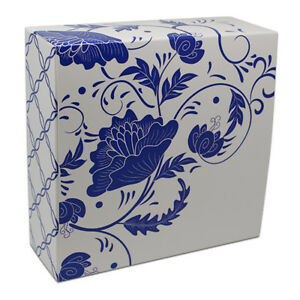 Blue White Printed Paper Boxes Gift Candy Cake Wedding Party Favor Packaging Box