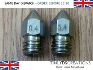Mk8 Extruder Stainless Steel Nozzles 0 4mm M6 Thread Fit Ctc Anet A8 d501