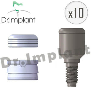 10 Locator Abutments 3 7mm Set Dental Implant Comp With Alpha Bio Biohorizons
