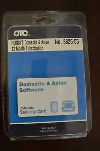 Otc Pegisys Domestic Asian 12 Month Sub Security Card 3825 55