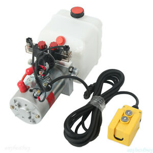 Double Acting Hydraulic Pump 12v Dump Trailer 3 Quart Complete Specifications