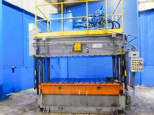 Jarecki 4 Post Hydraulic Press upacting 150 Ton X 96 X 48 7571p