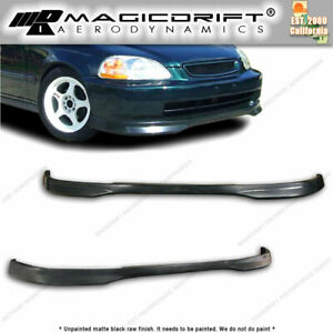 For 96 98 Honda Civic 2d 4d Type R Front Rear Bumper Lips Combo Kit Urethane