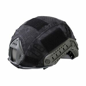 Black Kryptek Color Tactical Airsoft Gear Combat Ops-Core Fast Helmet Cover