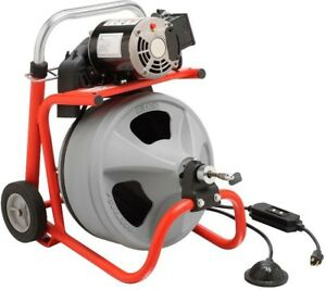 Ridgid K 400 With C 45 Iw Drum Machine For 1 1 2 In To 4 In Drain Lines