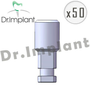 50 Implant Analog 5 0mm Dental Implant Hex Comp With Alpha Bio Biohorizons
