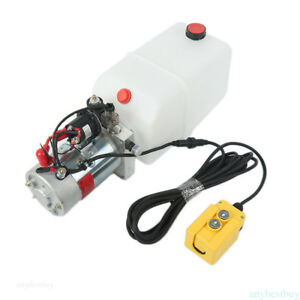 Single Acting Hydraulic Pump 12v Dump Trailer 6 Quart Complete Specifications