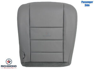 2003 Ford Excursion Diesel Lifted Passenger Side Bottom Leather Seat Cover Gray