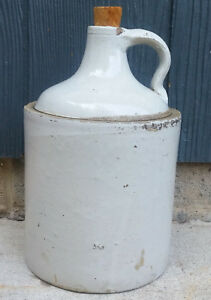 Antique Vintage Red Wing 1 Gallon Bottom Signed Minnesota Stoneware Whisky Jug