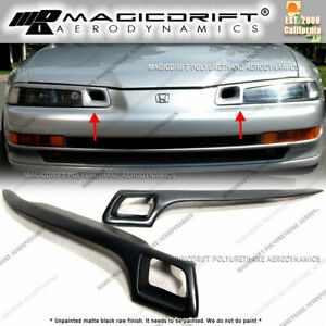 For 92 96 Honda Prelude Bb4 Bb1 Jdm Hiro Style Eyelids Headlight Lids Cover Vent