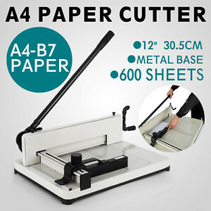 12 A4 Heavy Duty Ream Guillotine Stack Paper Cutter New