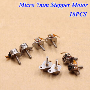 10pcs 7mm 2 phase 4 wire Micro Stepper Motor Mini Dc Stepping Motor Linear Screw