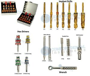 Dental Implantology Universal Starter Surgical Drills Driver Kit 16 Pcs
