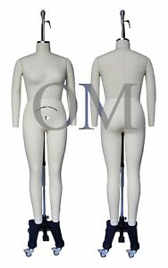 Professional Female Full Body Mannequin Dress Form W arms Size 14 wfcs 14 2