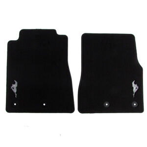 2013 2014 Ford Mustang Floor Mats Carpeted Front Black Oem New Br3z 6313086 ce