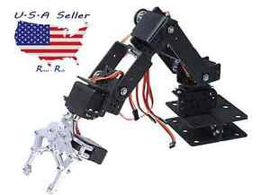 Upgraded 6dof Aluminium Mechanical Robotic Arm Clamp Claw Mount Robot Kit 6 Dof