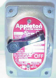 Appleton Edkf22q Control Assy Cover For Hazardous Locations 2 pole 20amp