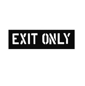 Exit Only 12 Inch Parking Lot Line Painting Stencil Striping Stencils Marking