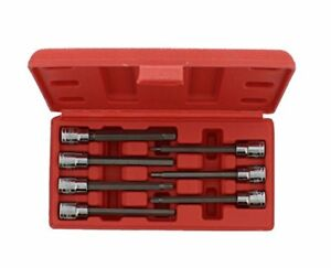 Abn Extra Long Sae Standard Socket 7 Piece Set 3 8 Inch Hex Drive 1 8 9 3