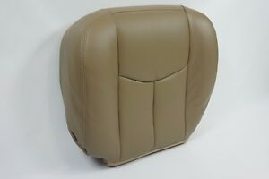 2003 2004 2005 2006 Gmc Sierra chevy Avalanche Driver Bottom Seat Cover Tan 522