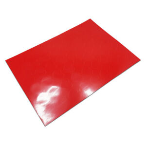 Red Heart Pvc Sticker Self Adhesive Label Wedding Party Favor Plastic Waterproof