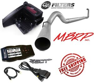 5 Mbrp Turbo Back Exhaust S b Intake Sct X4 Tuner 99 03 7 3l Powerstroke
