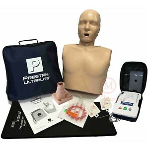 Cpr Training Kit With Prestan Ultralite Manikin Aed Ultratrainer Kneeling Mat