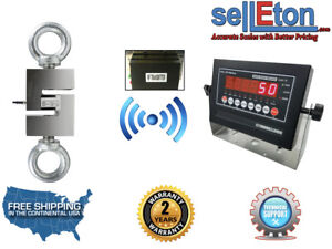 Wireless Industrial Op 926 Hanging Scale Hoist With Led Display 500 X 0 05 Lb