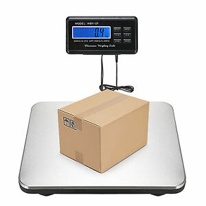 660lbs X 0 1lb Digital Platform Floor Scale Lcd Bench Postal Shipping Weight Ac