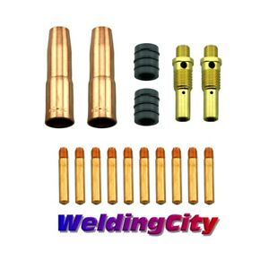 Mig Welding Gun Kit 035 For Lincoln 200 250 Tweco 2 Tip diffuser nozzle M7