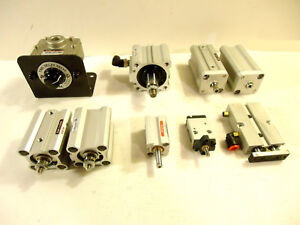 Smc Humphrey Pneumatic Cylinders And Valve 9 Pcs 1 Lot Used