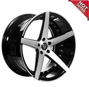 20 Marquee M3226 Wheels Black Machined Face Rims 5x120 Fit Camaro Ss