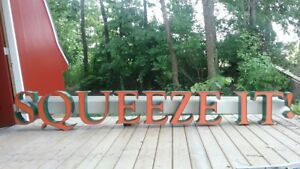 Commercial Lighted Sign squeeze It