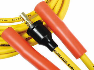 Accel 4038 Spark Plug Wire Set 8mm Yellow With Orange Straight Boots