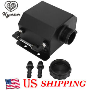 Universal 1l Aluminum Car Engine Oil Catch Can Reservoir Tank 1000ml Black New