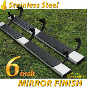Fit 09 14 Ford F150 Super Crew Cab 6 Running Boards Side Step Nerf Bar Chrome H