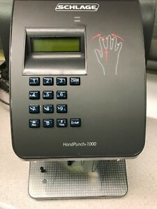Hand Punch 1000 By Ir Recognition Systems Biometric Clock Hp 1000 Schlage New