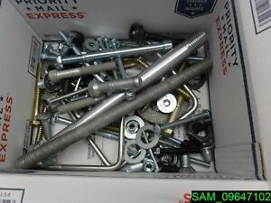 Mixed Lot Of Bolts Nuts Washers Lag Carriage U bolts 54 25 Lbs Lot 1