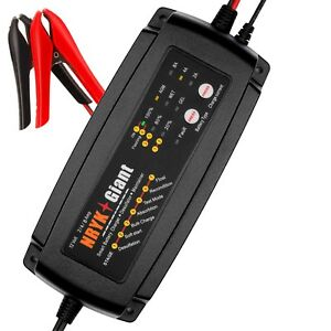 12v 2a 4a 8a Smart Car Battery Charger Maintainer For Agm Gel Wet Batteries
