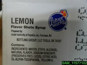 Case Of 7 Gallons Flavor Works Lemon Flavor Shots Syrup in 1 Gallon Boxes