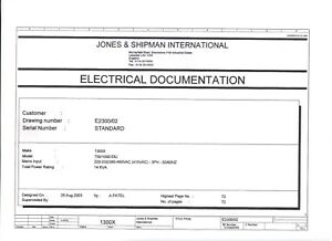 Jones shipman Electrical Drawings For Nc Programmable Grinders