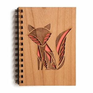 Girls Sketch Book Wooden Journal Diary Personal Notebook Laser Design Gifts New
