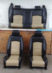 Jaguar S Type R Front Rear Leather Seats Left Right Black Tan Power Heated Oem