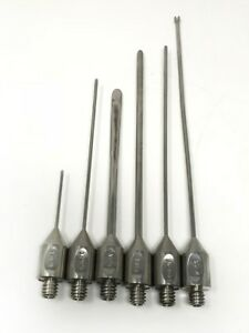 Cannula Surgical Needle Set Of 3 Suction Stainless Steel Ss Lot