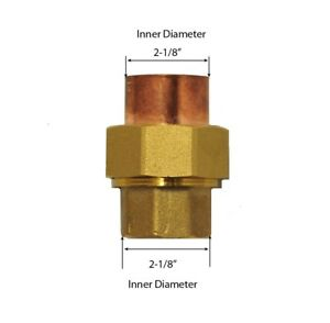 Libra Supply 2 Inch 2 Lead Free Copper Brass Sweat Union Cxc Solder Joint