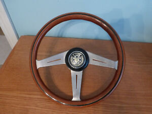 Rare Vintage Nardi Classic Wood Steering Wheel With Jaguar E Type Adapter