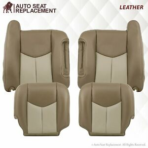 2003 2004 2005 2006 Gmc Sierra And Yukon Denali Front Top Back Seat Cover 2tone